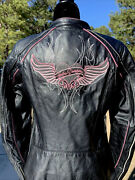 Harley Davidson Women Pink Label Limited Edition Leather Jacket 98161-10vw Small