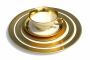 Westchester By Lenox M-139 5pc Place Dinner Setting Plate Cup Saucer Gold
