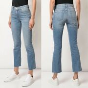 Slvrlake Sara Cropped Flare Jeans Coldwater Canyon Size 24