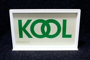 Kool Cigarette Tobacco Advertising Store Display Case With Removable Metal Sign
