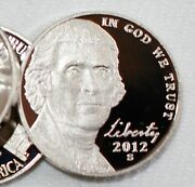 2012 S Jefferson Proof Nickels Roll 40- 5c Us Coins Uncirculated San Francisco