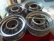 Vtg Oem Mopar Ford Studebaker Wire Wheels Hot Rat Rod 15 5 On 4 1/2 Amc I Ship