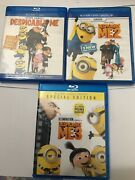 Despicable Me 1 2 And 3 Blu-ray Trilogy Collection 3 Movies