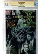 X- Files Topps.annual 2.signed By David Duchovny 25 Cgc.9.6