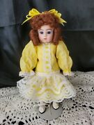 Small Petite Depose 10 Antique French All Bisque Doll Art Reproduction Costume