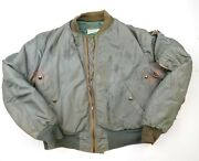 Rare 1950and039s Vintage Usaf B-15d Mod Flying Jacket Us Military Distressed