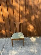 Set Of 8 Broyhill Brasilia Mcm Walnut Chairs From The 1960s With Original Uphols