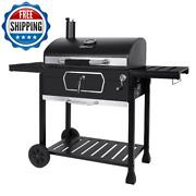 Bbq Grill Charcoal Outdoor Barbecue Meat Cooker Smoker Black Patio Yard Portable