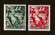 Original Germany Third Reich 1936 Olympic Torch Bearer Postage Stamp Set Mnh