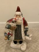 Hand Carved Wood Santa Goose Bear By House Of Hatten Artist D Calla Rare