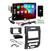 Planet Audio 10.1 Bluetooth Carplay Stereo Dash Kit Harness For 09+ Ford F-150