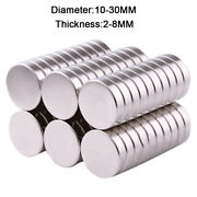 Neodymium Magnets Dia 10mm-30mm Thick 2mm-8mm Rare Earth Round Strong Magnet N35