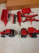 Ertl Case International Tractors 132 Lot 9150 And 2294 4wd And Front Loader Combine