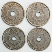 4 Coin Lot 1925-1940 Norway Krone Coins Very Fine And Extra Fine Circulated Haakon