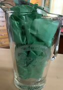 """8.5"""" Heavy Budweiser Beer Etched Glass Pitcher  Clydesdales. Happy 50th Dad"""