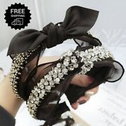 Baroque Womenand039s Pearl Embellished Headband Hairband Crystal Hair Crown Accessory