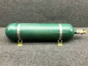C166001-0201 Cessna T210f Aerox Oxygen Bottle Assembly W/ Regulator And Clamps