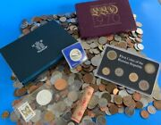 10 Troy Pounds Of Mixed Foreign Coins Plus Foreign Proof And Other Coin Sets Wc1