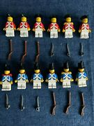 Lego 12 Vintage Redcoat And Bluecoat Imperial Soldiers Guards 6271
