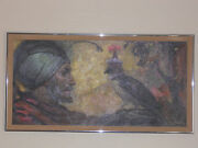 Awesome Oil Painting - Falcon And His Master - Jay Datus Listed Artist Falconry
