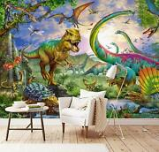 3d Dinosaur Dragonfly Kep315 Wallpaper Mural Self-adhesive Removable Sticker Bea