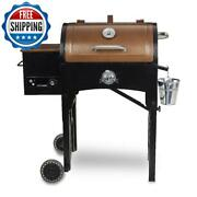 Wood Pellet Barbecue Bbq Grill Cooking Digital Control Camping Outdoor Portable