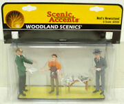 Woodland Scenics A2559 G Scenic Accents Ned's Newsstand Figures Pack Of 4