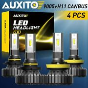 Auxito Led H11 9005 Headlight For Ford F150 2015-2020 Bulbs Hi Low Beam Fanless