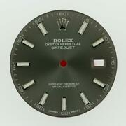 Original Men Rolex Datejust 41 126334 126300 Charcoal Index Dial Stainless A21