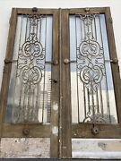French Doors With Decorative Iron Detail 95x34.5 Ea 69 Total Open