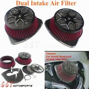 New Dual Intake Filter Big Sucker Air Cleaner Fit Suzuki Boulevard M109r 06-2019