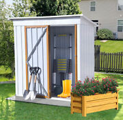 Metal Shed Modern Garden Storage Shed Backyard Tool Storage House Outdoor Roof