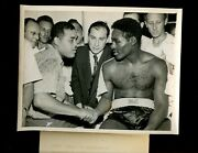 August 10 1949 Joe Louis And Ezzard Charles Boxing 7 X 9 Wire Photo