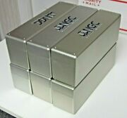 Six 6 Ngc Silver/blue Boxes - Lightly Used - Each Holds Twenty Coins.