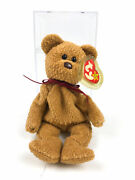 Curly The Bear Ty Beanie Baby 1993 Wrong Tush Tag Brown Nose Errors Pvc Pellets