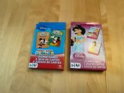 Disney Mickey Mouse Clubhouse Princess Go Fish Old Maid Snap Card Games Lot 2