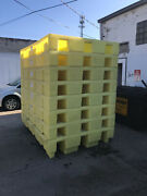 8 Enpac Ibc Dispensing Station And Spill Containment Pallet 5483-ye-d, 330 Gal