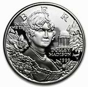 1999 Proof Dolley Madison Us Mint Silver One Dollar Coin Only Dolly