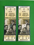 1998 Stanford Vs Notre Dame Football Tickets Notre Dame Stadium