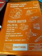 Sears Craftsman Power Tool Know How Power Router, Drill, Planer, Sander, Carver