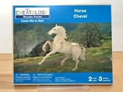 Creatology 3d Wooden Puzzle Horse Cheval Approx 9andrdquo X 2andrdquo X 8andrdquo Assembled Brand New
