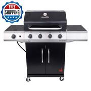 4 Burner Cooker Barbecue Bbq Grill Portable Camp Propane Black Stainless Steel