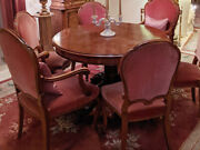Dining Room Set Round Wood Table And 6 Chairs