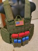 Tactical Defense Plate Carrier W/plates Lvl3 Ar500 Steel