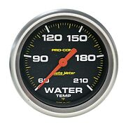 Autometer 5469 Pro-comp Electric Gauge For Water Temperature W/ Black Dial Face