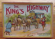 Antique Parker Bros The Kingand039s Highway Board Game Dressed Cats Stagecoach Thief