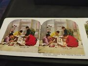 Vintage Antique Japan Japanese Stereo View Stereograph Cards Photo Lot