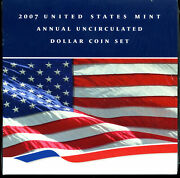 2007 United States Mint Annual Uncirculated Dollar Coin Set - Opened