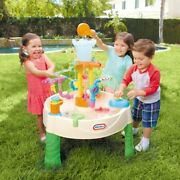 Little Tikes Fountain Factory Water Table Kids Outdoor Summer Play Activities
