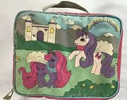 Vintage My Little Pony Castle Lunch Bunch Insulated Bag Box 1991 Hasbro As Is
